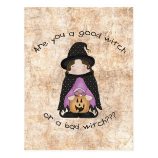 Are you a good witch or a bad witch? postcard