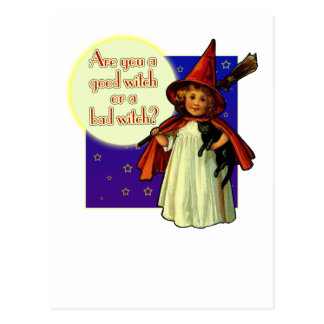 Are You a Good Witch Postcard