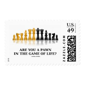 Are You A Pawn In The Game Of Life? (Chess Humor) Postage Stamps