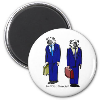 Are You a Sheeple 2 Inch Round Magnet