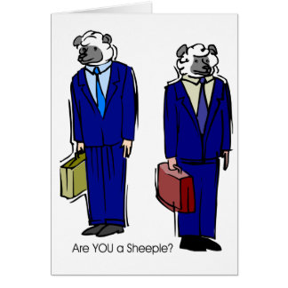 Are You a Sheeple Card