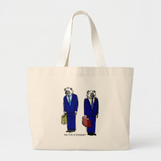 Are You a Sheeple Large Tote Bag