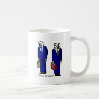 Are You a Sheeple Classic White Coffee Mug