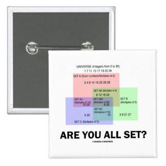 Are You All Set? (Math Set Theory Attitude) Pinback Button