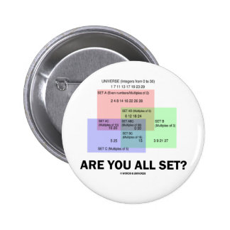 Are You All Set? (Math Set Theory Attitude) Pins
