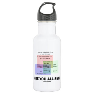 Are You All Set? (Math Set Theory Attitude) Water Bottle