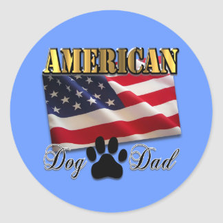 Are you an American Dog Dad Classic Round Sticker
