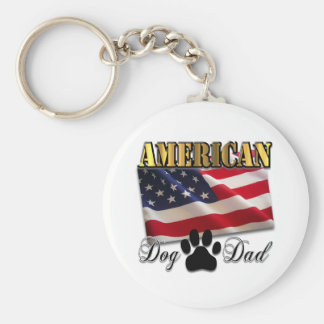 Are you an American Dog Dad Keychain