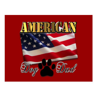 Are you an American Dog Dad Postcard