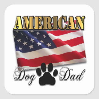 Are you an American Dog Dad Square Sticker