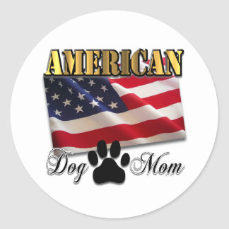 Are you an American Dog Mom? Classic Round Sticker