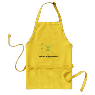 Are You At Equilibrium? (Supply-And-Demand Curve) Adult Apron