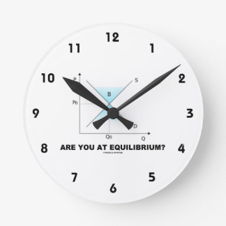 Are You At Equilibrium? Supply-And-Demand Curve Round Wallclocks