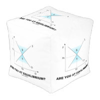 Are You At Equilibrium? Supply-And-Demand Curve Cube Pouf