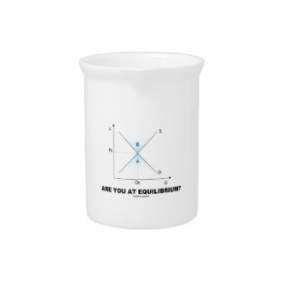 Are You At Equilibrium? Supply-And-Demand Curve Drink Pitchers