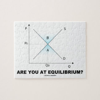 Are You At Equilibrium? Supply-And-Demand Curve Jigsaw Puzzle