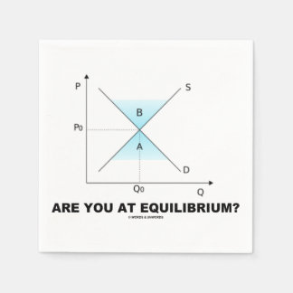 Are You At Equilibrium? Supply-And-Demand Curve Napkin