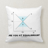 Are You At Equilibrium? Supply-And-Demand Curve Pillows