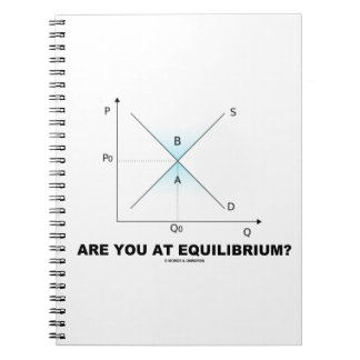 Are You At Equilibrium? Supply-And-Demand Curve Spiral Notebook