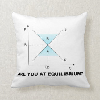 Are You At Equilibrium? Supply-And-Demand Curve Throw Pillow