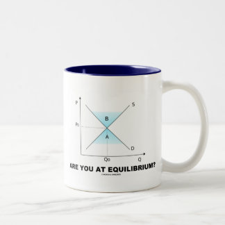 Are You At Equilibrium? (Supply-And-Demand Curve) Two-Tone Coffee Mug