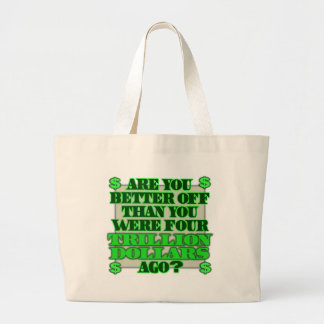 Are You Better Off Jumbo Tote Bag