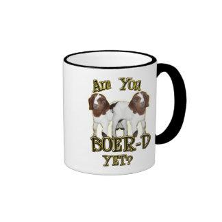 ARE YOU BOER-D YET? BOER GOATS RINGER COFFEE MUG