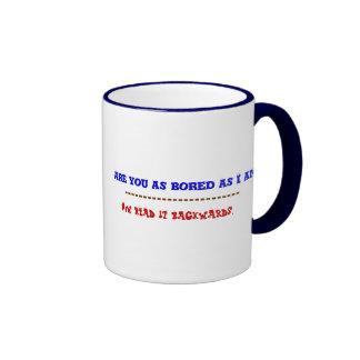 Are you bored coffee mug