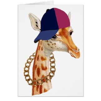 Are You Chaving a Giraffe London Cockney Slang Card