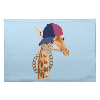 Are You Chaving a Giraffe London Cockney Slang Cloth Placemat