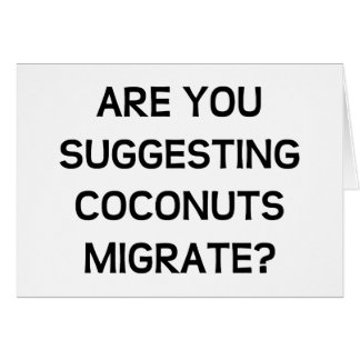 Are You Coconuts Greeting Card