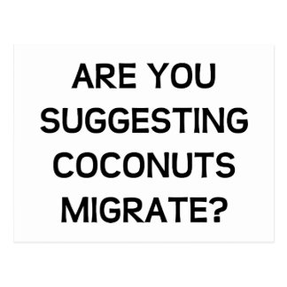 Are You Coconuts Postcard