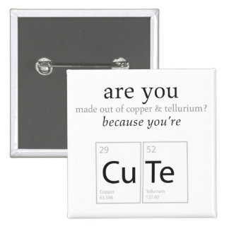 Are You Cute Nerdy Science Geek Humor Button