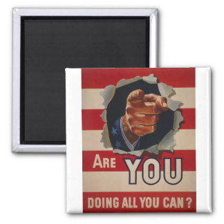 Are you doing all you can? refrigerator magnet