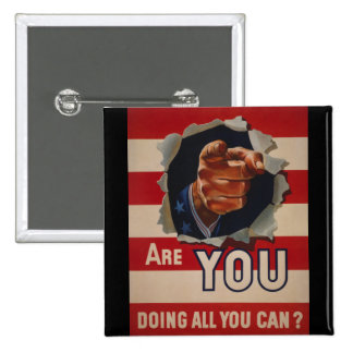 Are you doing all you can? pinback button