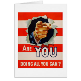 Are You Doing All You Can? - WW2 Greeting Card