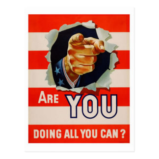 Are You Doing All You Can? - WW2 Postcard