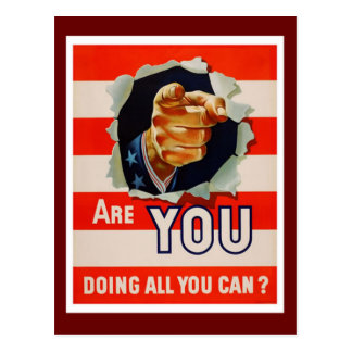 Are You Doing All You Can? - WW2 Post Cards