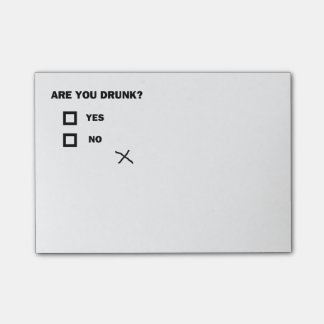 Are You Drunk? Post-it Notes