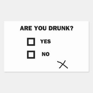 Are You Drunk? Rectangular Sticker