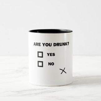 Are You Drunk? Two-Tone Coffee Mug