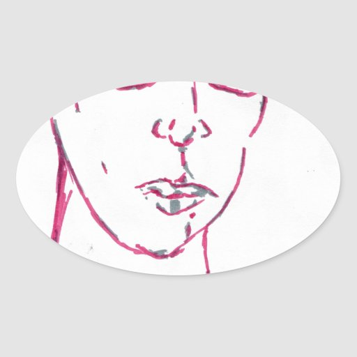 Are you eyeballing me oval sticker