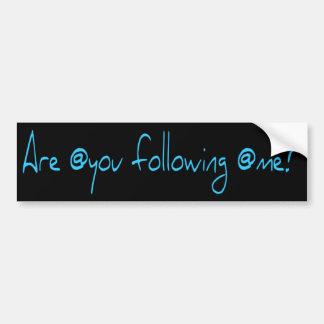 Are @you following @me? car bumper sticker