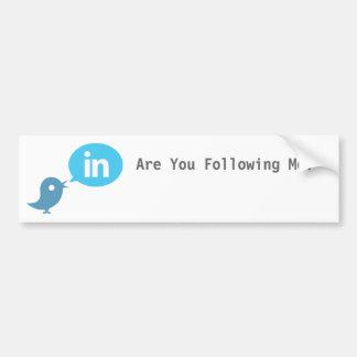 Are You Following Me? Twitter Bumper Sticker Car Bumper Sticker