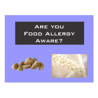 Are you food allergy aware postcard