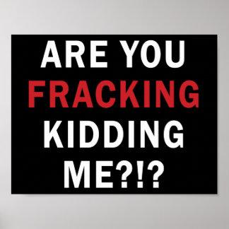 Are you Fracking Kidding Me?!? - Poster, black
