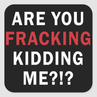 Are you Fracking Kidding Me?!? - Square Stickers