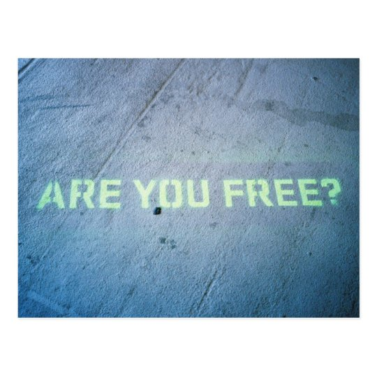 Are You Free Postcard