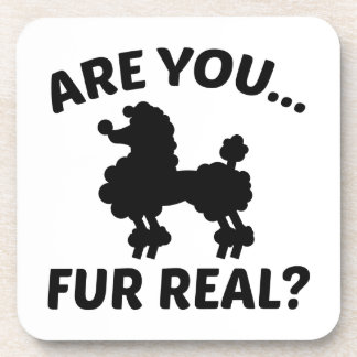 Are You Fur Real? Beverage Coaster