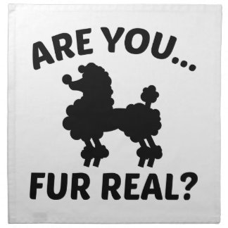 Are You Fur Real? Napkin